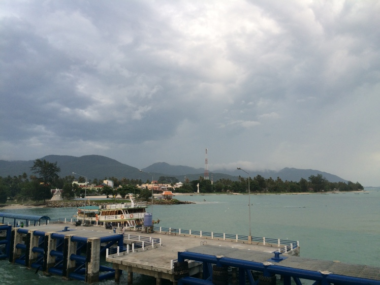 Arriving at Koh Phangan after the rainstorm