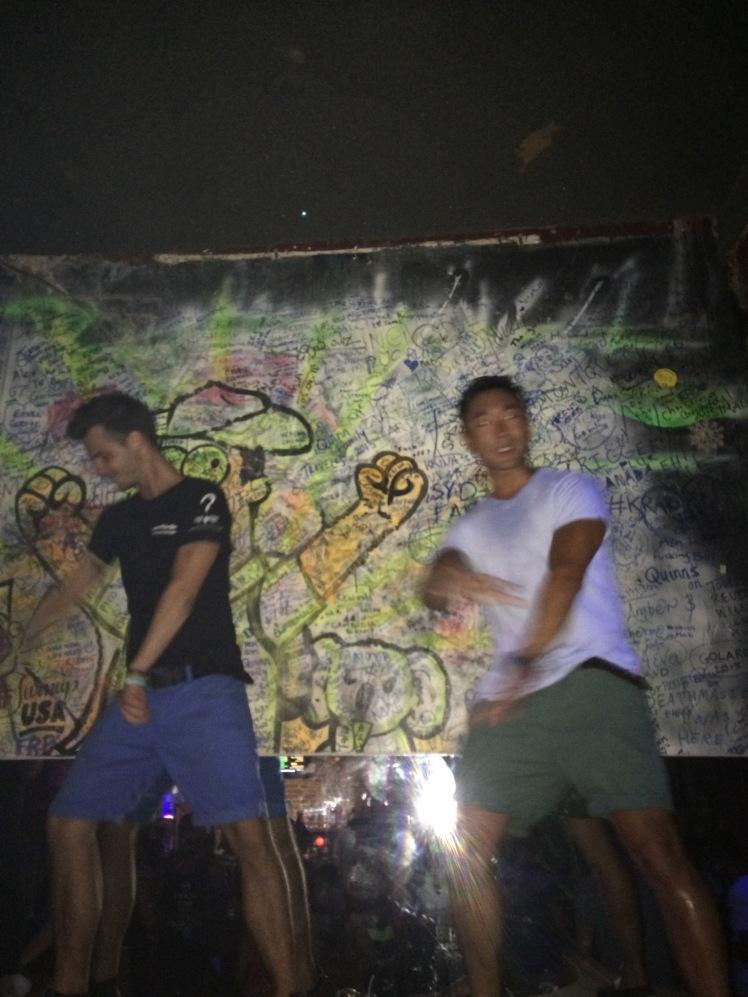 Kristian and Mac getting down at Angkor What?