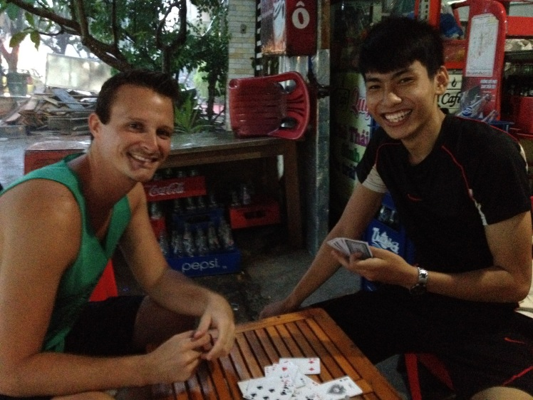 We met up with Hung a couple times to play a vietnamese card game and have coffee.