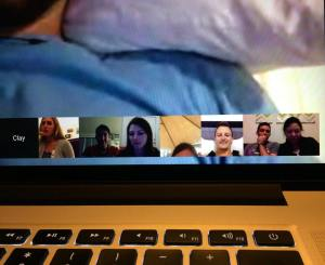 My friend Kat set up a video call with some of our friends today. it was great to see everyones faces for thanksgiving!