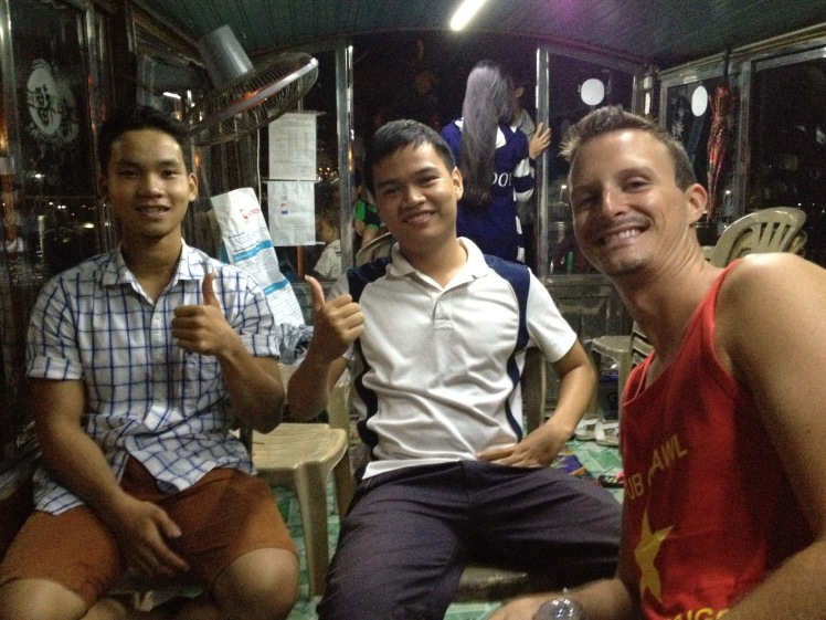 Hoang and his friend took us on a boat ride down the river